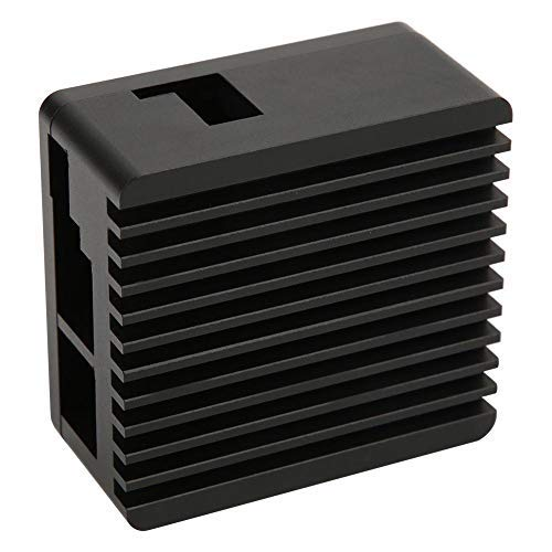 Caja de aleación de Aluminio, Caja Negra de disipación de Calor Placa Base Accesorios de la Carcasa Protectora Caja de Metal/Caja con disipador térmico