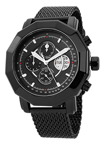 Reichenbach Reloj de Cuarzo Man Eckstein Negro 44 mm