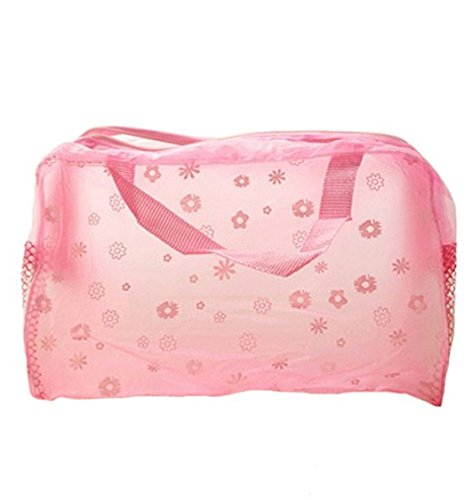 DAYAN Hot imprimé floral transparent maquillage waterproof Make up Cosmetic Bag toilette Baignade Pouch
