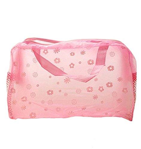 DAYAN Hot imprimé floral transparent maquillage waterproof Make up Cosmetic Bag toilette Baignade Pouch