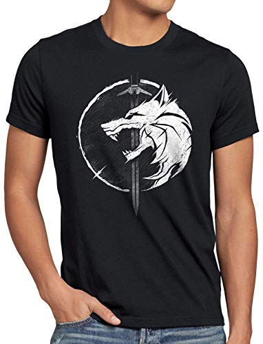 A.N.T. Temeria Saga T-Shirt da Uomo Geralt Lupo Drago, Dimensione:4XL