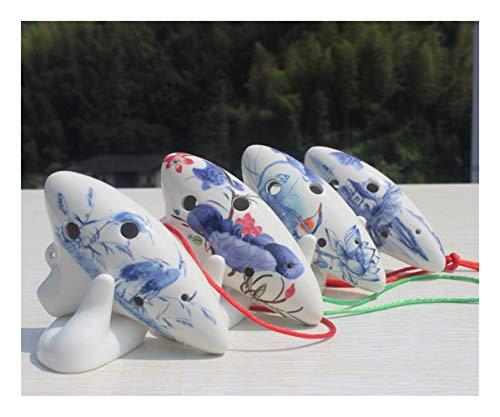 Allshiny Ocarina Ocarina Tinto Alto AGUJO 6 IN G Ocarina Pintado Submarino Loto (Color : Hand Painted Submarine Lotus)