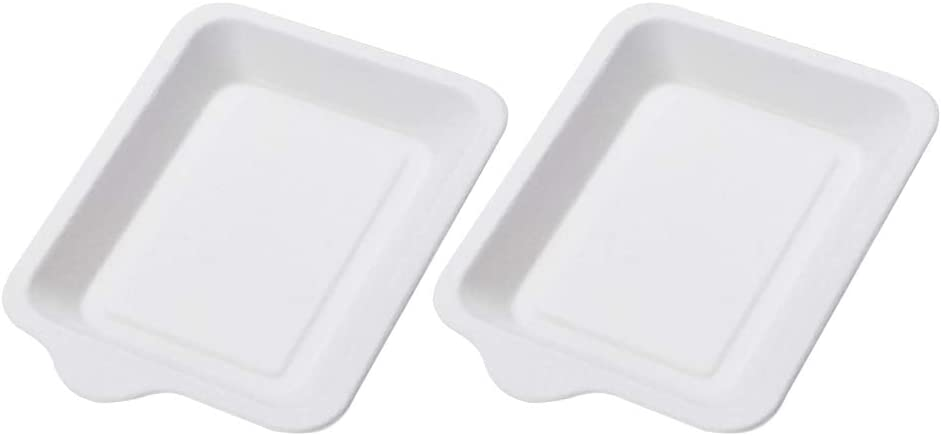 Useful 100pcs Disposable Ranking TOP8 Paper Plates Pla High order Dessert Cake Rectangle