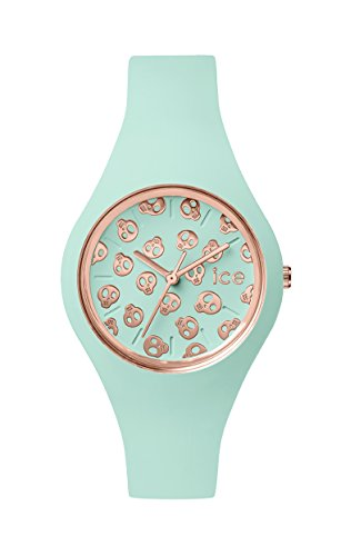 Ice-Watch - ICE skull Luminous mint - Women's wristwatch with silicon strap - 001267 (Small)