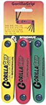 Bondhus 12533 GorillaGrip Hex and Star Fold-up Triple Pack, 12587 (2-8mm), 12589 (5/64-1/4-Inch) & 12634 (T9-T40)