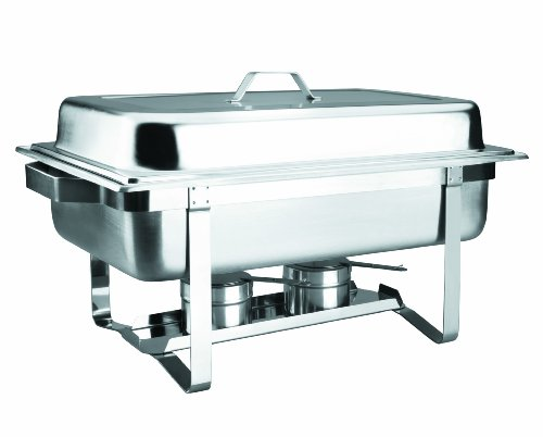 Lacor 69110 Bain Marie Chafing Dish Gn 1/1 avec Couvercle en Inox