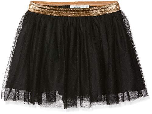 NAME IT NAME IT Mädchen NKFTULLU Tulle Skirt NOOS Rock, Schwarz (Black Black), 110