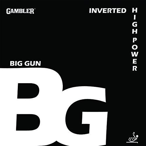 Gambler Big Gun (BG) 2.1mm 2 Table Tennis Rubber Set (2 Sheets)
