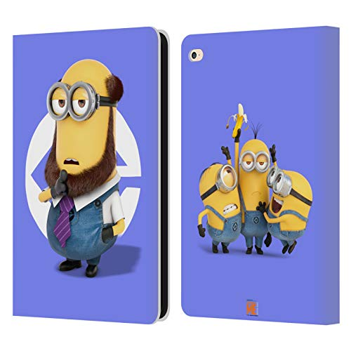 Head Case Designs Oficial Despicable Me Disfraz de Barba de Kevin Esbirros Carcasa de Cuero Tipo Libro Compatible con Apple iPad Air 2 (2014)