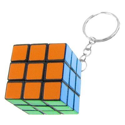 Porte-clés Cube puzzle magique en Plastique Multicolore pour Enfants