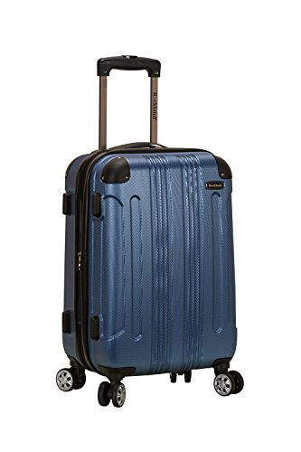 Rockland London Hardside Spinner Wheel Luggage, Blue, Carry-On 20-Inch