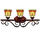 JZDHAOANHE Lámpara De Pared, Aplique De Pared con Vitrales Tiffany, Diseño...