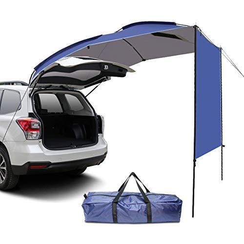 WISAMIC Auto Markise Campingbus Sonnensegel Auto: Vorzelt Busvorzelt Sonnendach Campingbedarf Standard für Wohnwagen, SUV, MPV, Hatchback, Minivan, Limousine, Outdoor,Schutz vor Sonne und Regen