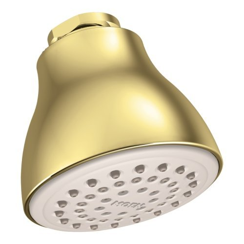 Moen 6300P One-Function Easy Clean XL Shower Head, Polished Brass by M