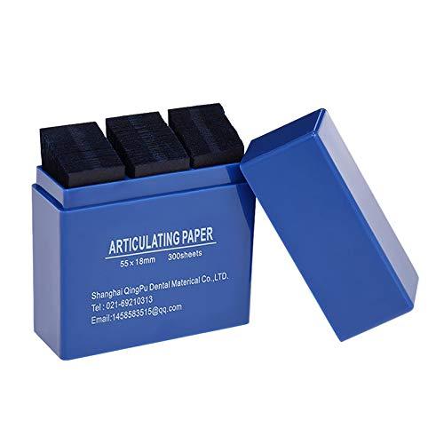 DishyKooker - Tiras de papel articuladas dentales, 300 hojas/caja, para productos de laboratorio dental, herramienta para cuidado de los dientes bucales