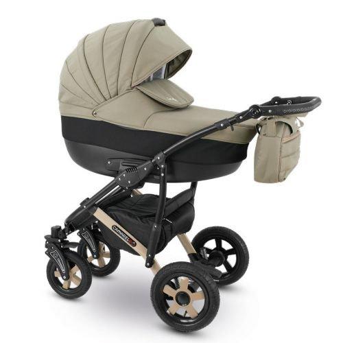 Camarelo SEVILLA Kombikinderwagen - Kinderwagen - Buggy Farbe XSE-3 Cappuccino/schwarz