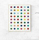 Poster, Motiv: Damien Hirst, Punkte, Wandkunst, Dekoration,