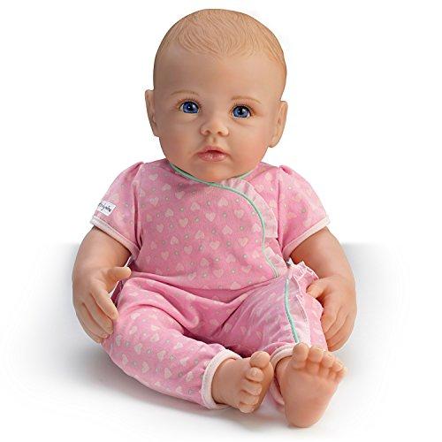 The Ashton - Drake Galleries Lifelike Play Doll of Ashton Drake So Truly Mine: Blonde Hair Blue Eye Baby Doll