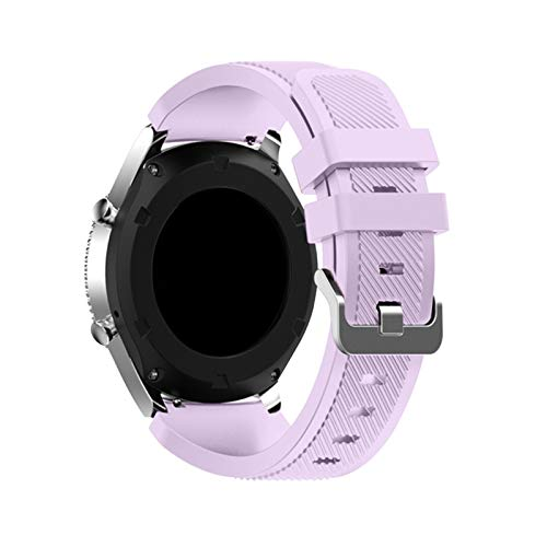 Correa Para Samsung Galaxy Watch 3 45mm / 41 / Activo 2 Engranaje S3 Frontier/Huawei Watch GT 2E / 2 / GTS Strap 20 / 22mm Watch Band 1033 (Band Color : Lilac 24, Band Width : 20mm)