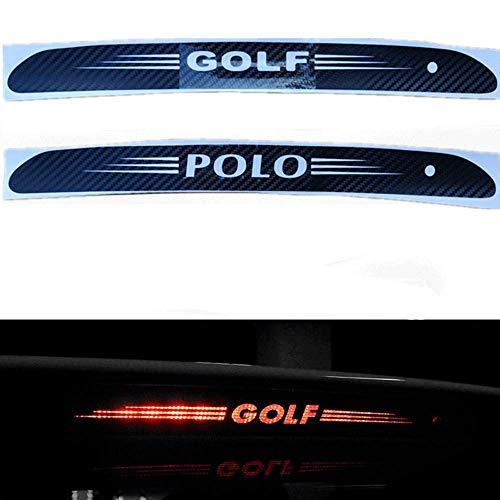 N/A Auto Carbon Fiber Bremsleuchte Aufkleber, für Volkswagen VW Golf 6 7 MK6 MK7 Polo Tiguan Hoch Montierte Hintere Bremslichtabdeckung Abziehbilder Dekoration Zubehör