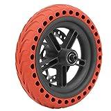 Alomejor Rueda Trasera de Scooter el¨¦ctrico de 8,5 Pulgadas con Juego de Repuesto de Freno de Disco de 120 mm para M365PRO(Rojo)