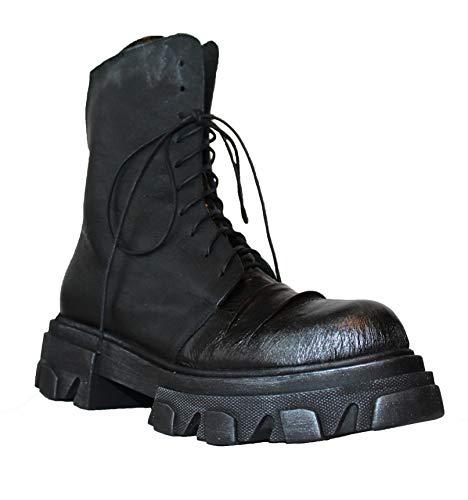 Papucei Combat Stiefel, Boots, Black, Gr. 40, Schwarz, Leder, Schwarz, Springerstiefel