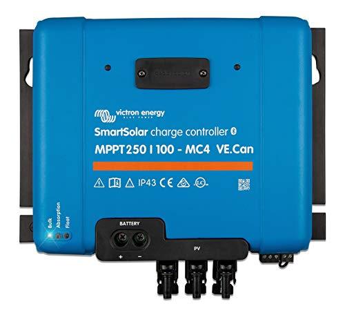 Victron Energy SmartSolar MPPT MC4 VE.Can 250V 100 amp 12/24/36/48-Volt Solar Charge Controller (Bluetooth)