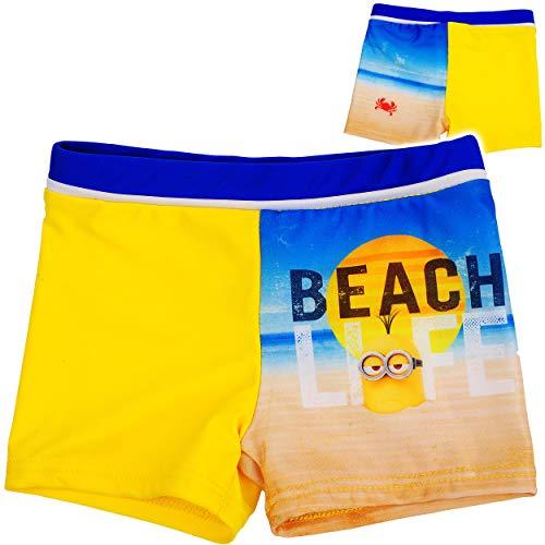 alles-meine.de GmbH Badehose / Badeshorts - Minions - ich einfach unverbesserlich - Größe 6 bis 7 Jahre - Gr. 122 bis 128 - für Jungen Kinder Badepants - Boxershorts Shorts mit B..