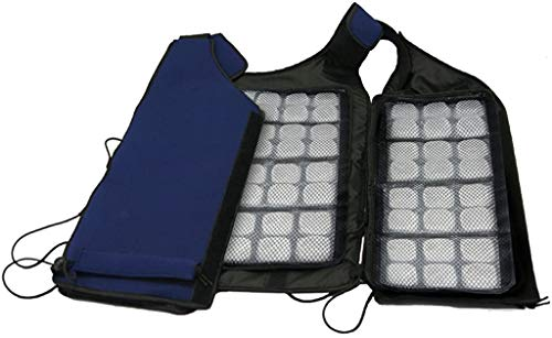 FlexiFreeze Ice Vest, Best Body Cooling Device with 96 Cubes
