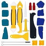 Herramienta de Silicona Aplicador 20 piezas, con Raspador de Plástico Boquilla, Perfecto Para con Raspado Cocina Baño Piso Cocina y Habitación