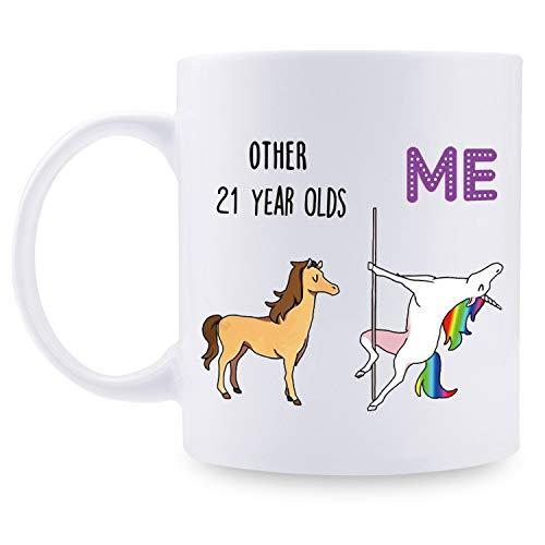 21 cumpleaños regalo para mujeres – 1998 regalo de cumpleaños para mujeres, 21 años de edad, taza de café para mamá, esposa, amiga, hermana, ella, colega, compañero de...