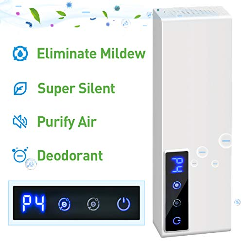 Best Review Of Air Purifier Deodorizer Negative ion Double Function Digital Display with 4 Modes Adjustment Cyclic Operation,Air Cleaner Ozone Remove Oil Smoke, Odor for Bathroom, Bedroom Kitchen, Closets