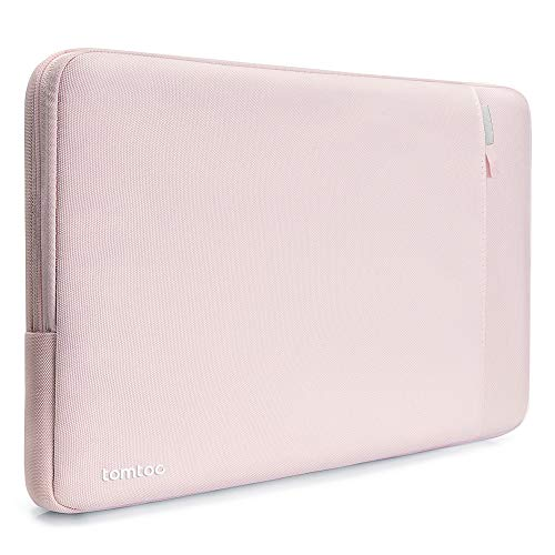 tomtoc Laptop Sleeve for 13-inch MacBook Air 2018-2020 M1/A2337 A2179, 13-inch MacBook Pro USB-C 2016-2020 M1/A2338 A2251 A2289, Dell XPS 13, Notebook Case Bag with Accessory Pocket, Pink