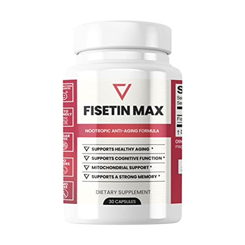 41YCe3CQ6WS. SL500  - Fisetin Max | Nootropic Anti-Aging Supplement - Doctor Approved Antioxidant Support for Healthy Aging, Better Brain Health, Improved Energy Levels, and Maintaining Strong Memory* - 30-Day Supply