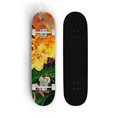 Kssmice Skateboards, My Hero Academia: MIDORIYA IZUKU, Patinaje de doble inclinación de...