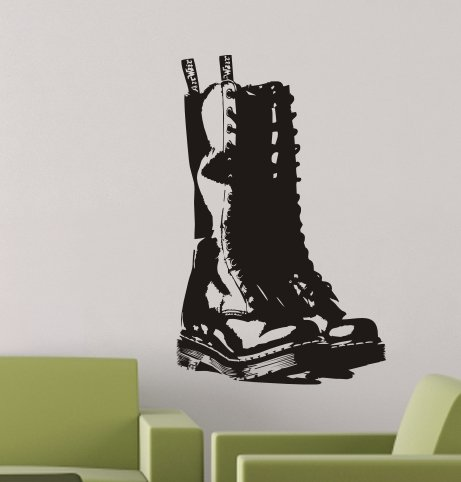 De Cool Graphic Boot Dr Martens Muursticker 58cmx37cm