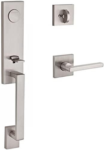 popular Baldwin FDSEAXSQULCSR150 Reserve Full Dummy high quality Handleset Seattle x online sale Square with Contemporary Square Rose in Satin Nickel Finish Left Hand online
