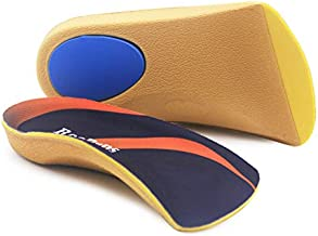 Arch Support, RooRuns 3/4 Orthotic Shoe Inserts for Over-Pronation, Plantar Fasciitis, Heel Pain Relief, High Arch Support Insoles for Men and Women for Running Walking