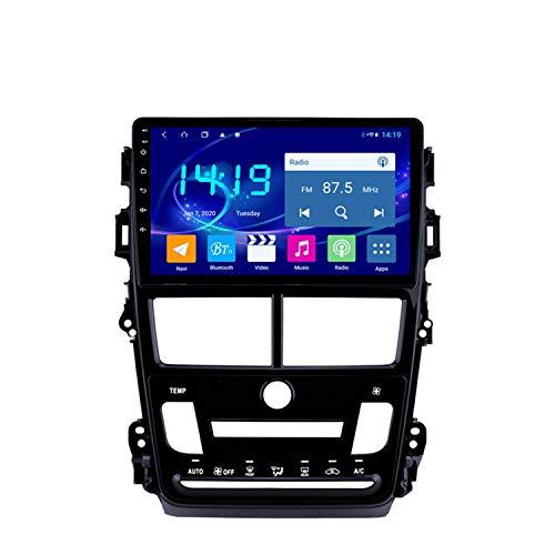 BBGG GPS 4GB + 64G 10 Pulgadas Coche Estéreo Navegación por Satélite GPS Navegación con Bluetooth Teléfono Manos Libres/Imagen De Inversión/Radio DVD/FM/Am/WI(Color:Aire Acondicionado automático)