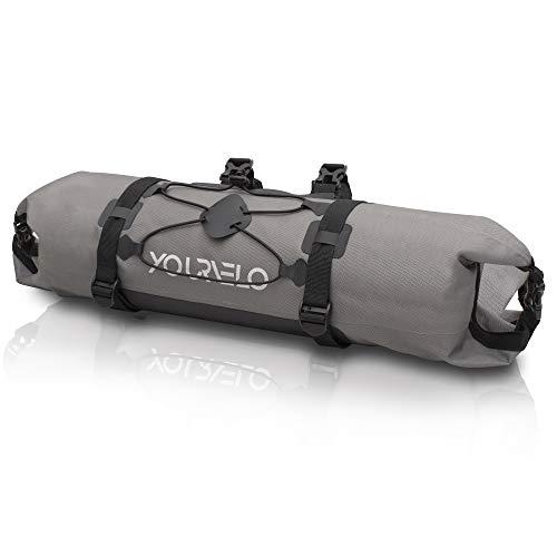 YourVelo - Fahrrad Lenkertasche - 9L Volumen - 100% Wasserdicht - 340 Gramm - Fahrradtasche Lenker Fronttasche Vorne Bikepacking