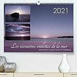 Les mémoires violettes de la mer (Calendrier supérieur 2021 DIN A2 horizontal)