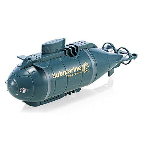 FANPING Mini RC Submarino, 6 canales de control remoto a prueba de agua modelo submarino con el transmisor de 40 MHz, buceo recargable RC Barco en el lago piscinas estanques for el regalo de los niños