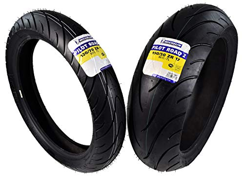 Michelin Pilot Road 2 Sport Touring Motorcycle Front and Rear