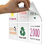 M.C. Squares Stickies 4x4 Reusable Sticky Notes | 6-Pack 2-Year Re-Stickable Mini Whiteboards with Smudge-Free Tackie Marker | Made in The USA