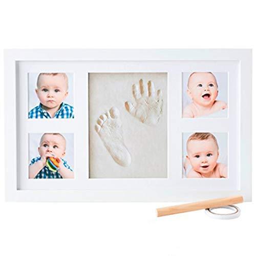 CHSEEA Baby Handabdruck und fußabdruck Mit Bilderrahmen Baby-Abdrücke Set - Baby Erinnerungen Baby-Schatzkästchen Andenken Set ideale Babygeschenk zur Babyparty, Geburt & Taufe #4