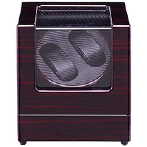 ANZRY Devanadera De Reloj Doble Caja Enrolladora De Reloj Automática Placa De Vidrio Transparente A Prueba De Polvo 2 Métodos De Suministro De Energía Durable