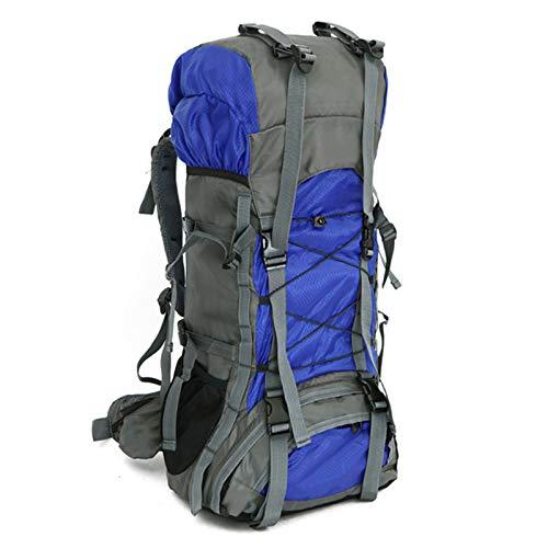 WMC Randonnée Sac à Dos, 60L Extérieur Intérieur Camping Camping Sac à Dos Voyage Randonnée humidité étanche à l'eau à Dos de randonnée,Bleu