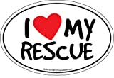 Prismatix Decal Cat and Dog Magnets, I Heart My Rescue