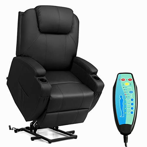 Tangkula Power Lift Recliner Chair with Massage