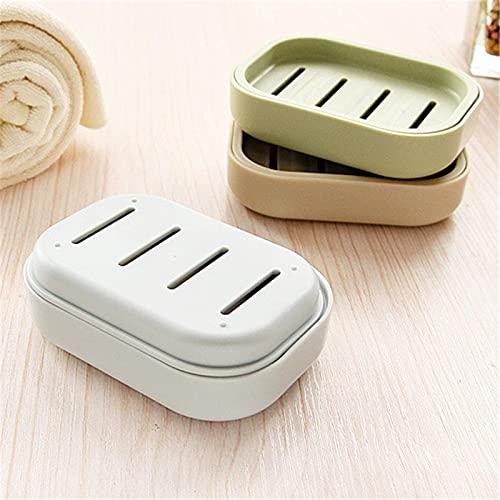 LIXHZJ 2 unids mini práctico cuarto de baño plato caso ducha al aire libre viaje senderismo titular contenedor sellado caja de jabón color al azar* N.º de producto: WW-248
